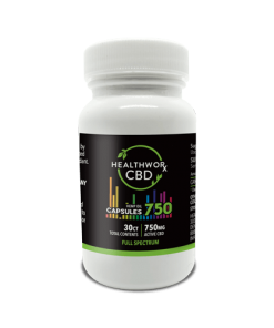30ct 70mg Full Spectrum CBD capsules - Full-spec CBD Pills - Hemp Oil Capsules