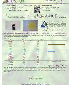 CBN oil potency CoA
